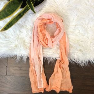 Peach Pink Scarf Rectangle